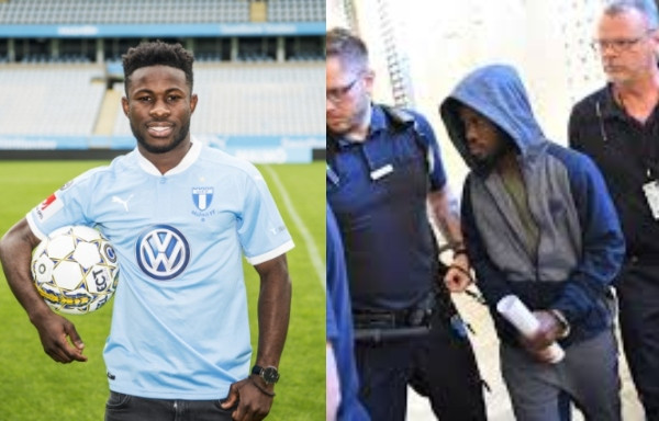 Ghanaian footballer, Kingsley Sarfo released after serving prison sentence for having sex with an underage girl in Sweden