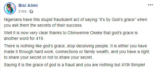 Obinwanne Okeke has shown that God