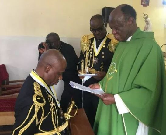 Photo:?Rotimi Amaechi promoted to the highest rank in the Catholic Church under the order of the Knights of St. John