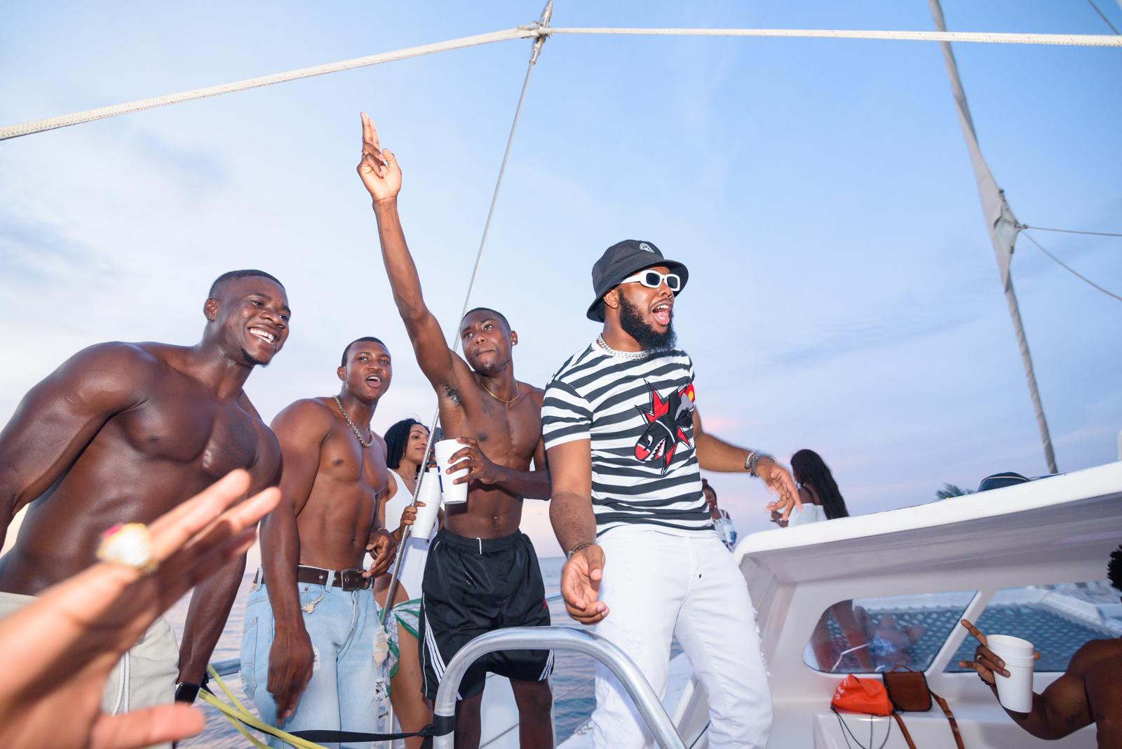 Ajaeze Hosts Star Studded Cast Including Sharon Ooja , Chief Obi , Tola Odunsi in Jamaica on ISEKOSummer Private Boat Party