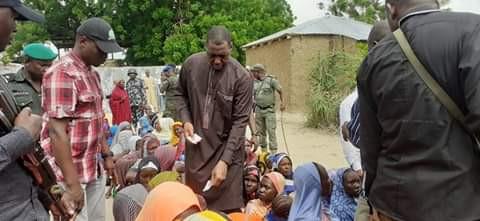 Photos: Borno Governor goes spiritual, raises Qur