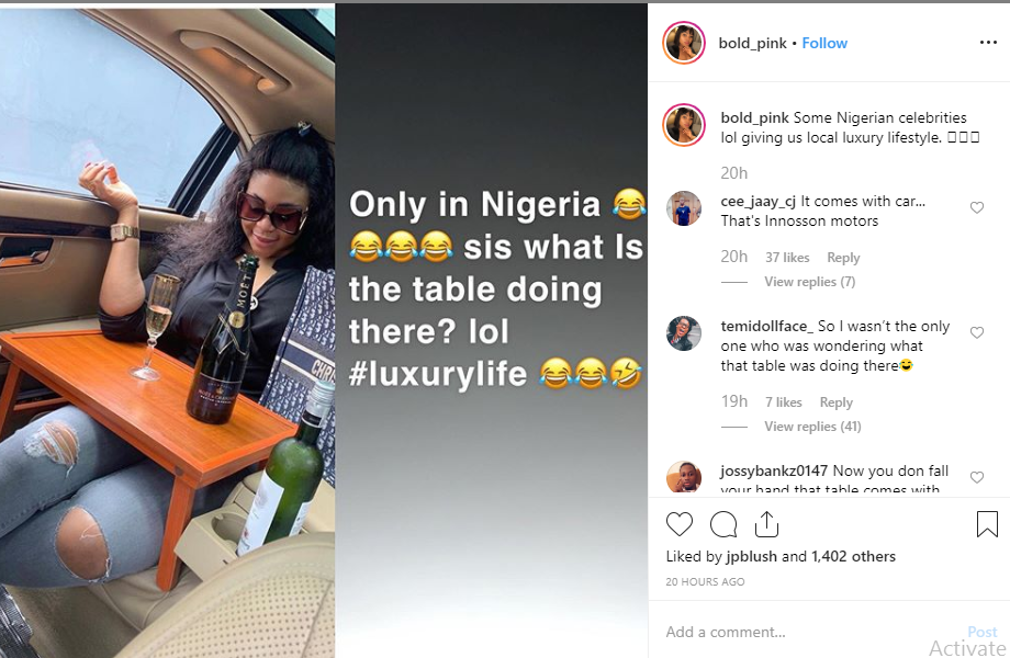 You have to be presentable to be noticed - Mimi Orjiekwe slams IG troll, Bold Pink after shade post