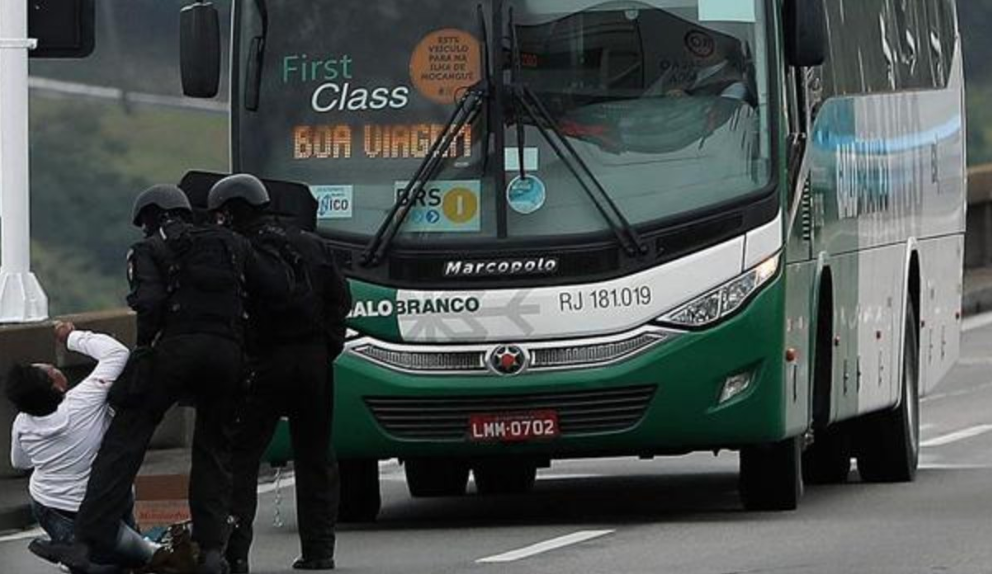 Armed man takes 37 bus passengers hostage before being shot dead in Brazil