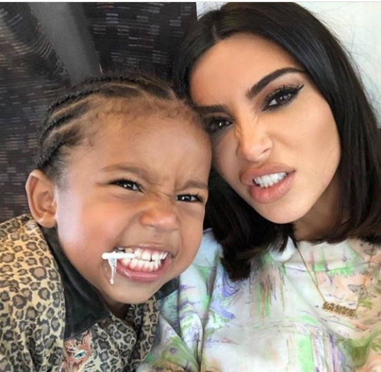 Kim Kardashian and son Saint West make scary faces in adorable photo