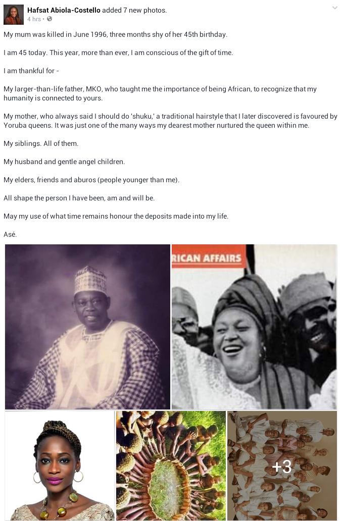 Beautiful new photo of late Alhaja Kudirat Abiola