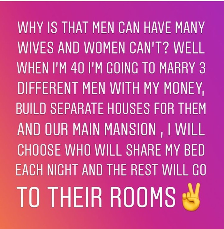 """If men can, why can"