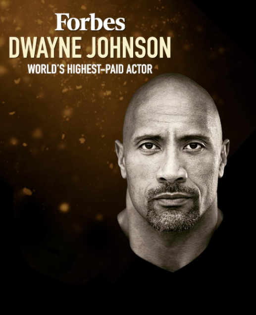 "Dwayne ""The Rock"" Johnson tops Forbes list of highest-paid actors in 2019"