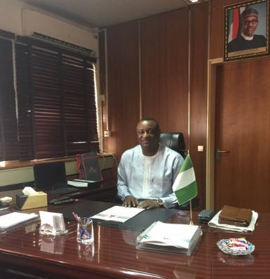 Festus Keyamo shares first photo from his new office as Minister of State for Niger Delta