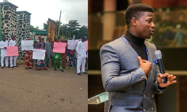 Senior citizens protest against the appointment of 27-year old Seun Fakorede as commissioner in Oyo State