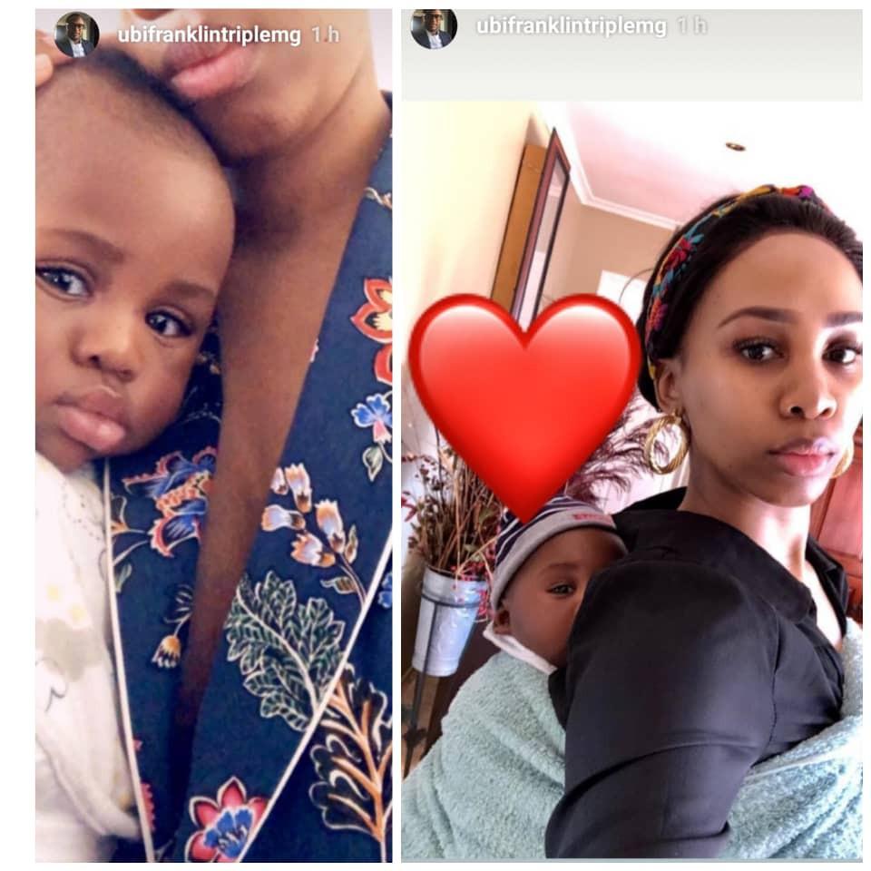 Ubi Franklin shares new photos of South African babymama, Nicola Siyo, and son, Shiloh