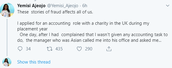 Accountant narrates how a UK charity she worked with refused to let her handle money because Nigerians are known for fraud