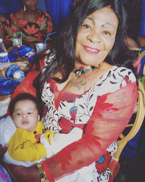 Nkechi Blessing Sunday mum and her grandson