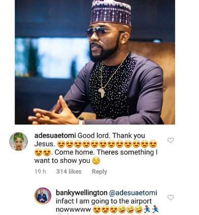 "5d63c1d5890ae - ""Come Home, I Want To Show You Something"" – Adesua Beckons On Banky W"