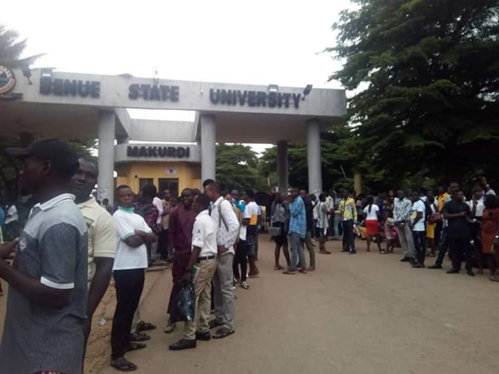 Students of Benue State University shut down entire campus in protest over shooting of student leader by suspected cultist