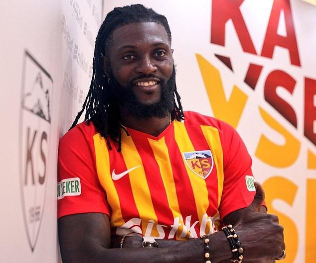 Emmanuel Adebayor joins Turkish minnows Kayserispor on a one-year deal (Photos)