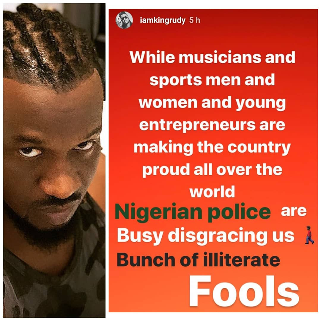 Nigerian police are a bunch of illiterate fools- Paul Okoye