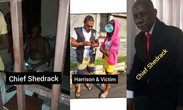 75-year-old HIV Positive man allegedly freed by police after paying N370K settlement for raping for a 14-year-old girl in Port Harcourt (photos)