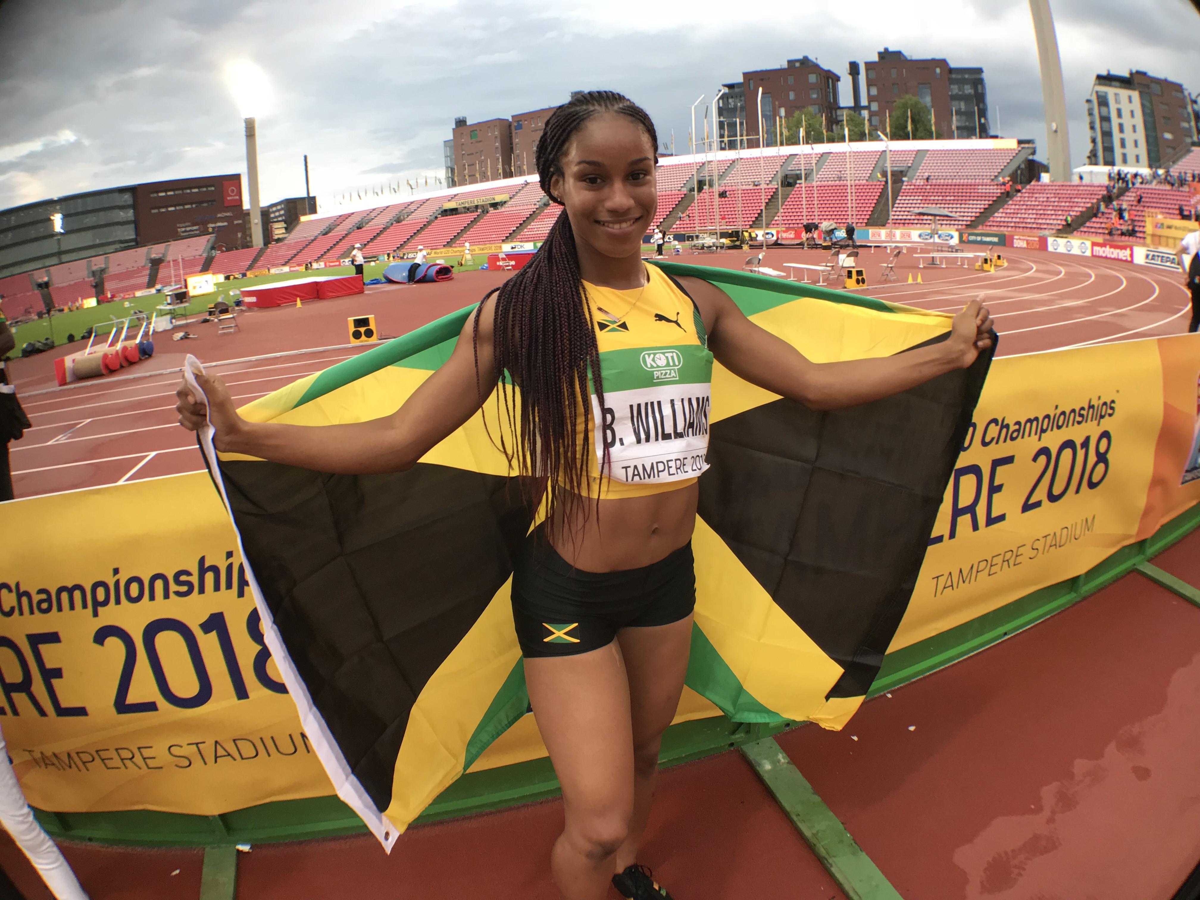 17-year-old Jamaican sprinter Briana Williams fails drugs test