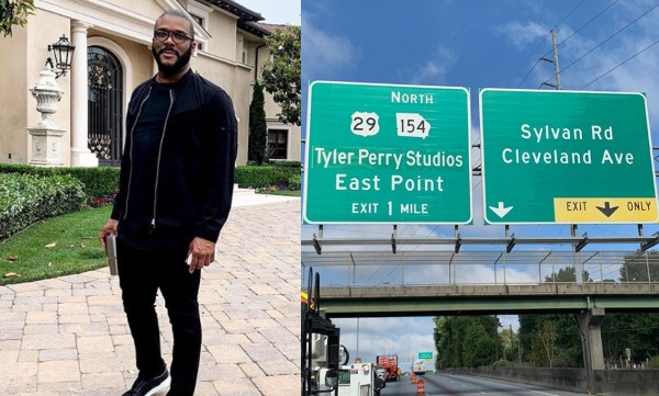 Tyler Perry shares inspirational post as his studio gets a highway sign