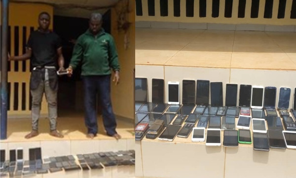 Car snatchers arrested with 150 phones