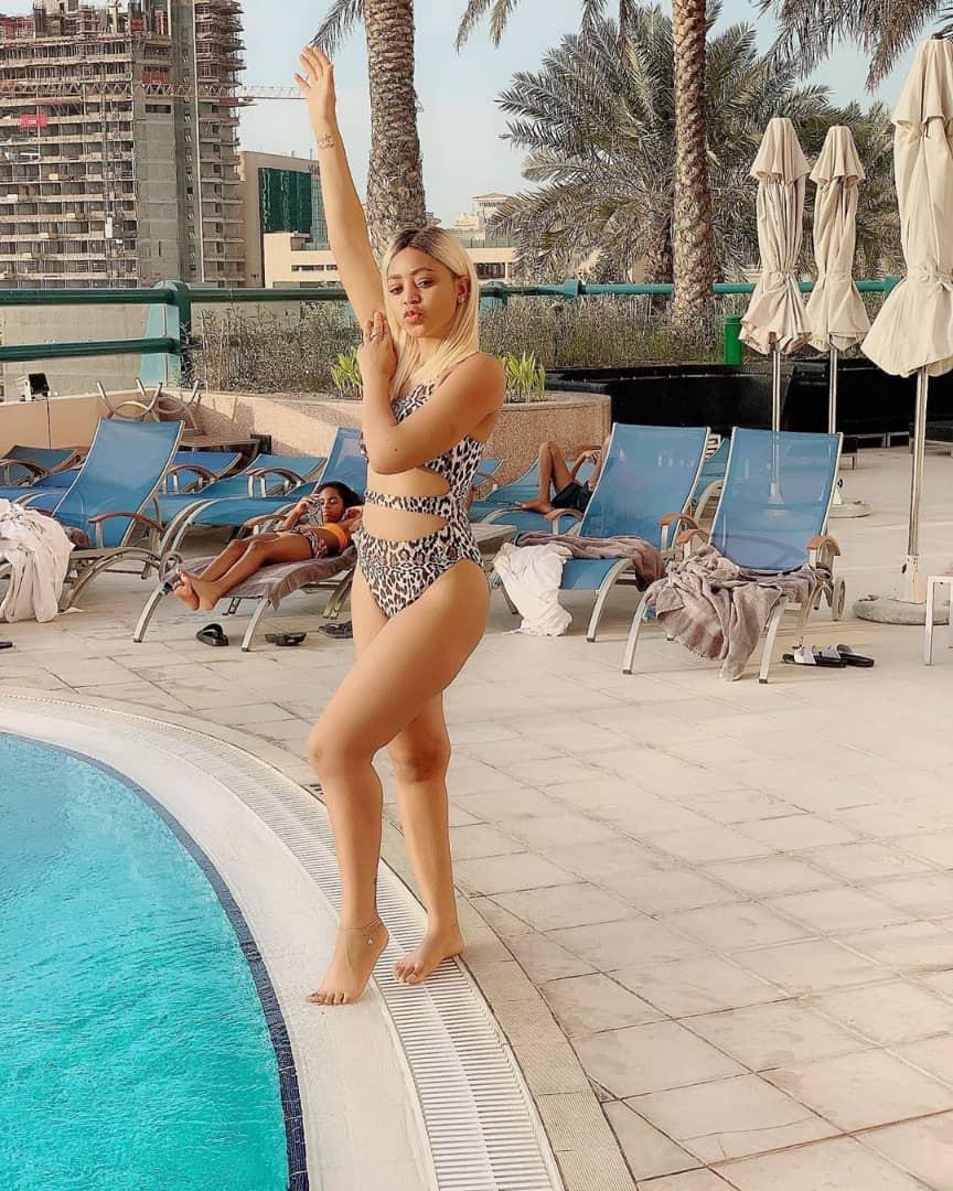 Regina Daniels flaunts her sexy body in new bikini photos
