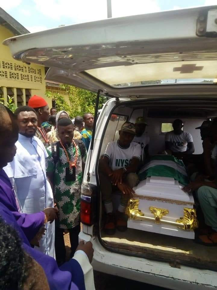 Corps member who died in an accident laid to rest in Ebonyi state (photos)