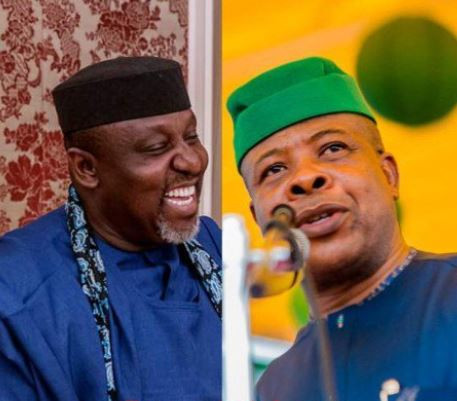 The order to arrest me only adds to their continued disrespect for my family - Rochas Okorocha replies Ihedioha
