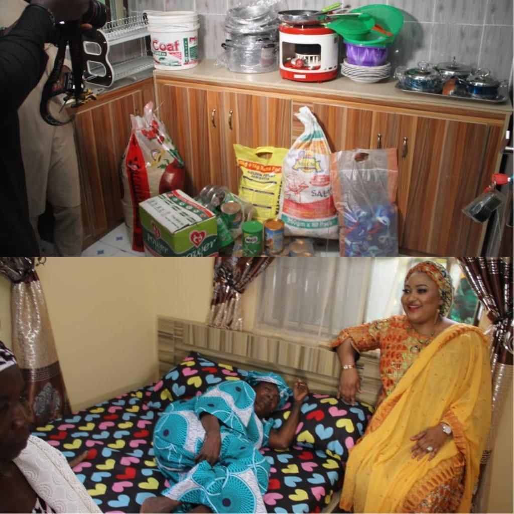 Kogi State First Lady, Rashida Yahaya Bello Builds House For An Aged Woman