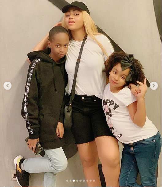 Actress Regina Daniels shares beautiful family photos with her stepchildren