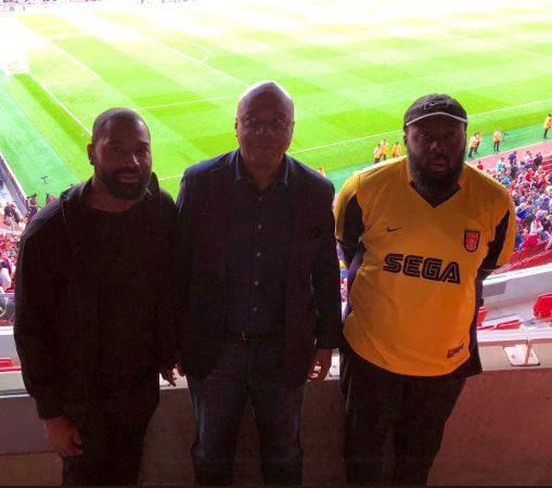 Bukola Saraki and his sons watch Arsenal vs Tottenham match at Emirates stadium? (Photo)