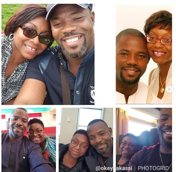 Okey Bakassi celebrates 18th wedding anniversary with his wife, Ezinne