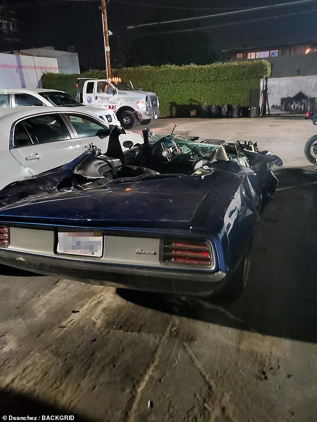 More terrifying photos from the scene where Kevin Hart suffered