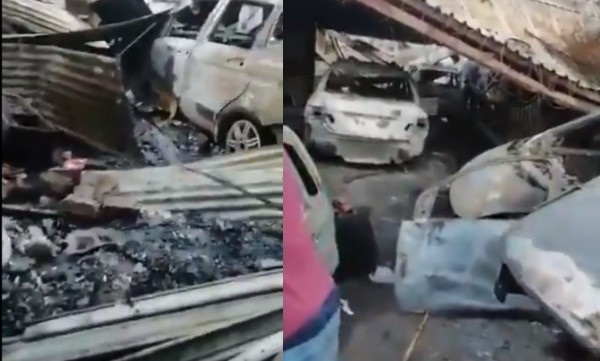 #Xenophobia: South Africans set properties and cars owned by Nigerians on fire, Nigerian embassy allegedly attacked (video)