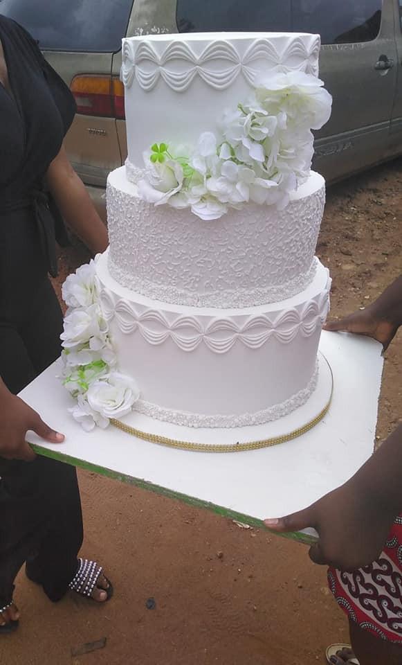 Bride collapses as groom