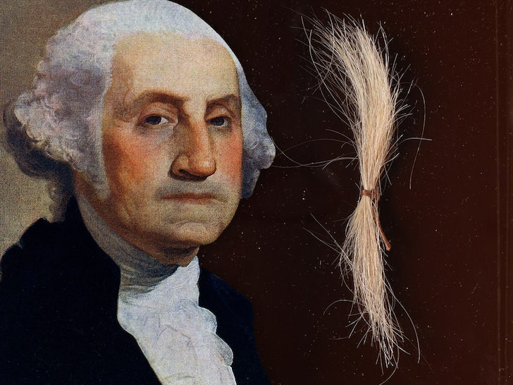 Real-life hair of George Washington, the 1st President of the United States goes up for sale at $50k