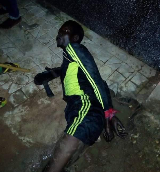Alleged thief is tied up and publicly humiliated after allegedly being caught at Federal University Wukari in Taraba