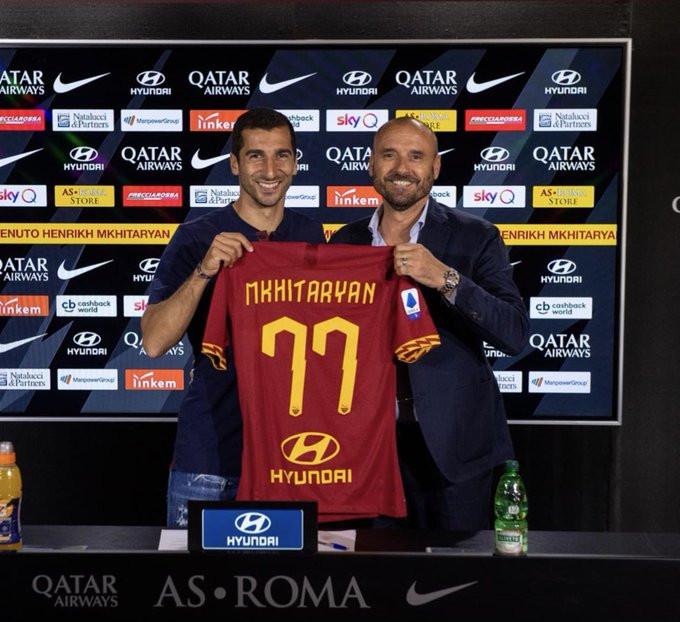 Arsenal midfielder Henrikh Mkhitaryan joins Roma on a 12-month loan?(Photos)