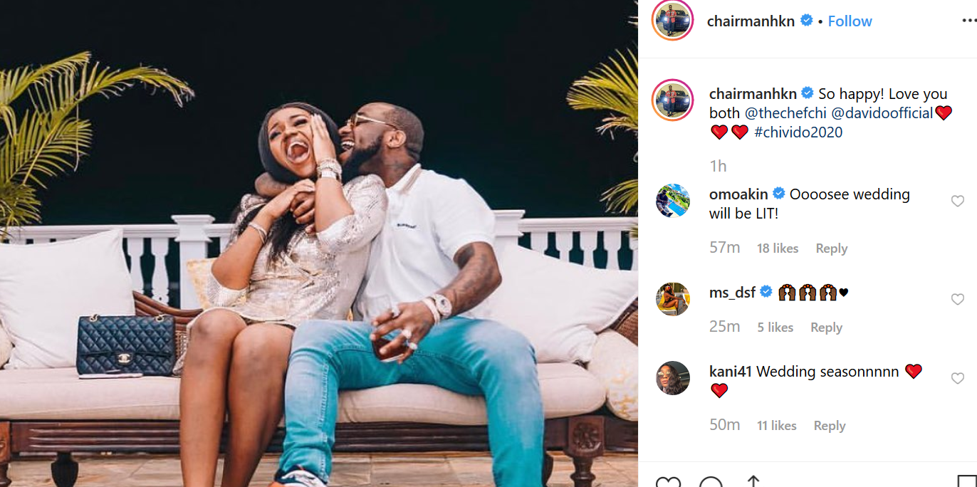 Davido and Chioma are engaged; hold introduction ceremony (photo)