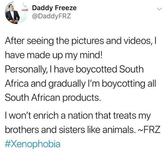 #Xenophobia: