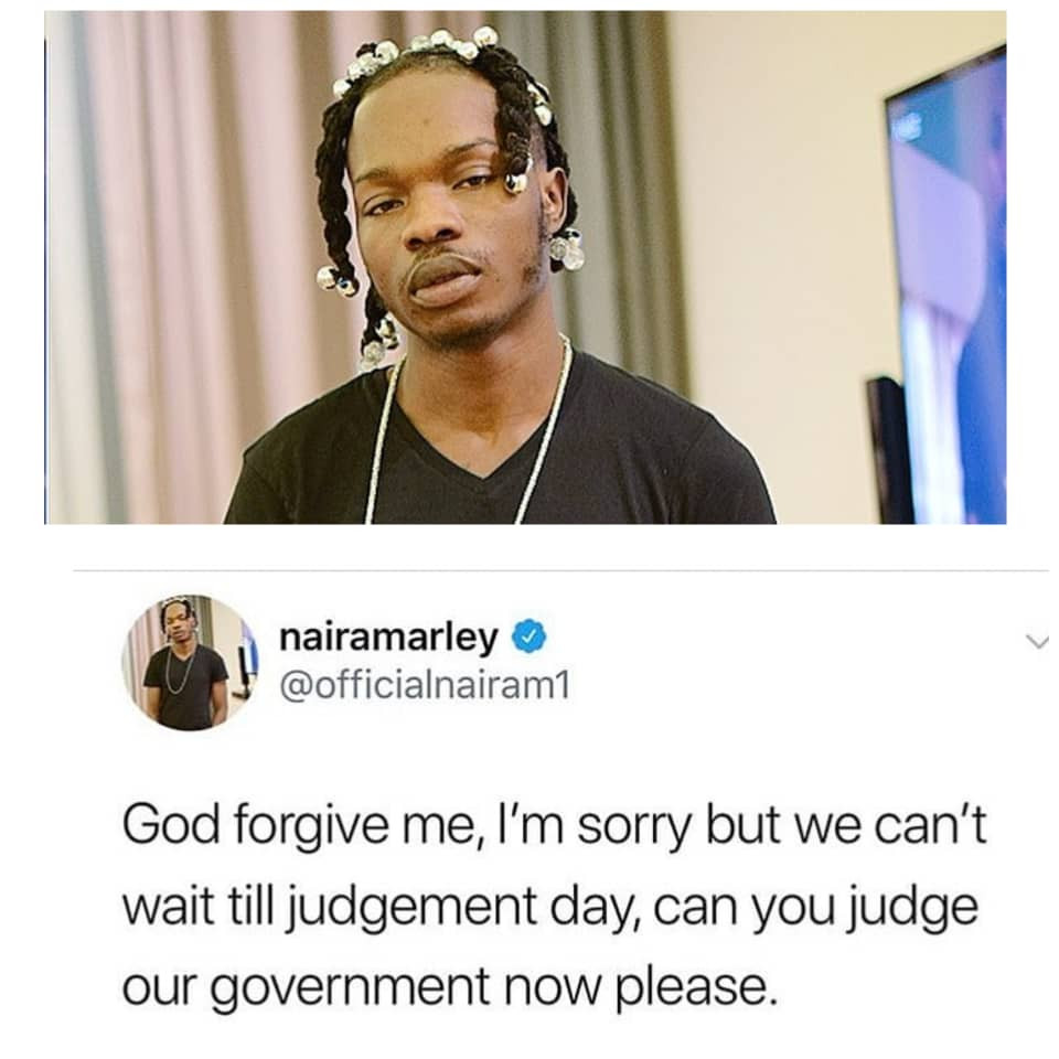 Forget judgement day, please start judging our government now- Naira Marley appeals to God