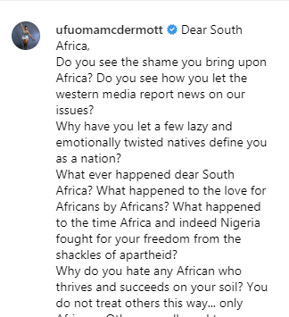 Xenophobia: Dear South Africa, do you see the shame you bring upon Africa? - Ufuoma McDermott writes