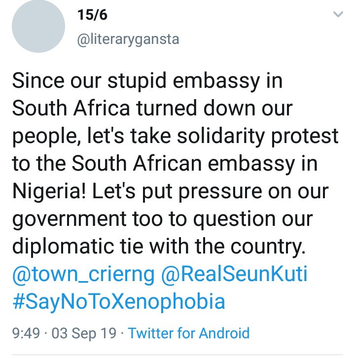 "Nigerian Embassy in South Africa ""shuts its doors on Nigerian victims of Xenophobia in South Africa"""