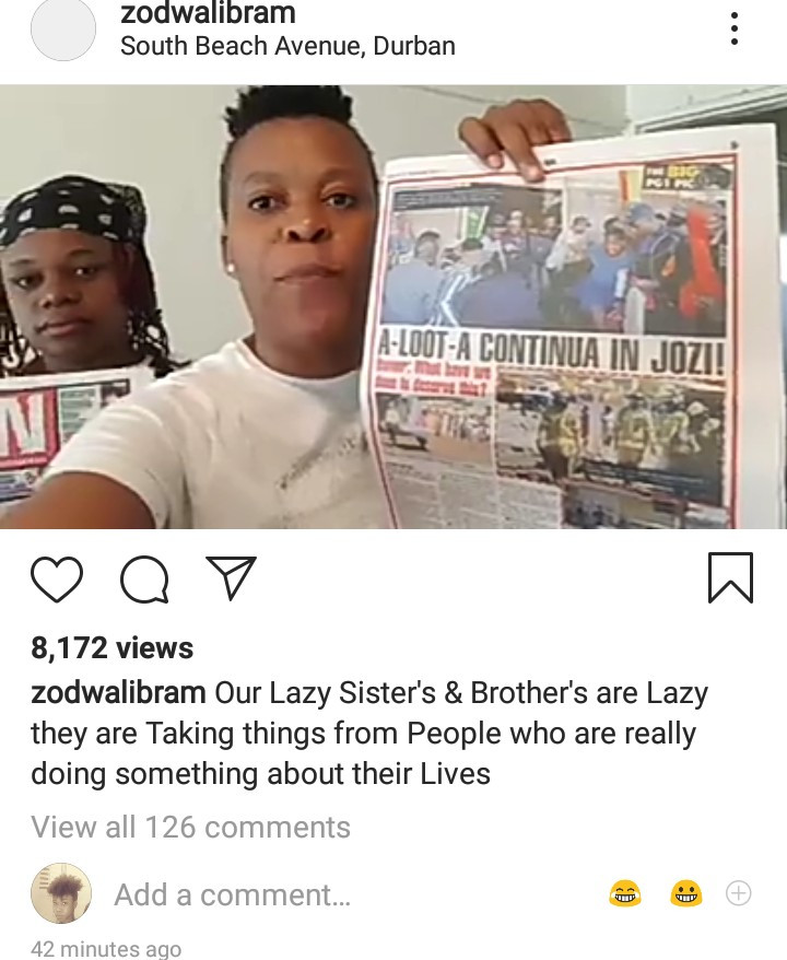 """Our brothers & sisters are lazy. They are taking things from people who are doing something about their lives"" Zodwa Wabantu reacts to xenophobia in her country"