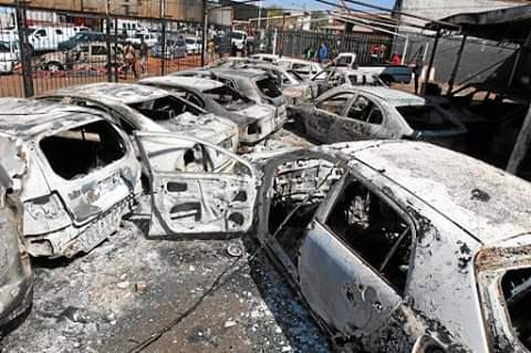 Xenophobia: 'My heart broke as I helplessly watched everything perishing into flames' - Nigerian car dealership owner laments