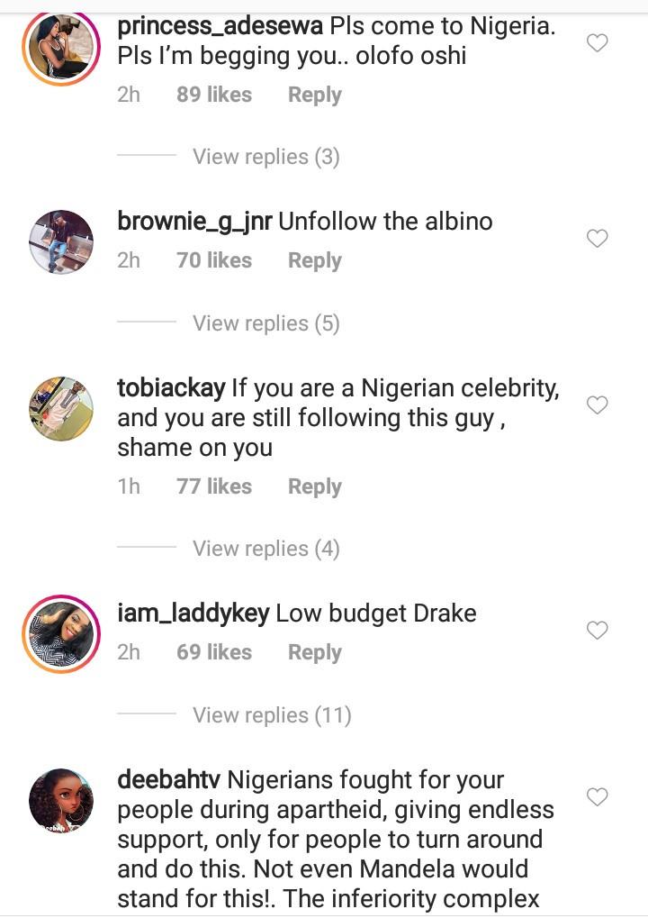 Broda Shaggi and other Nigerians flock South African rapper AKA