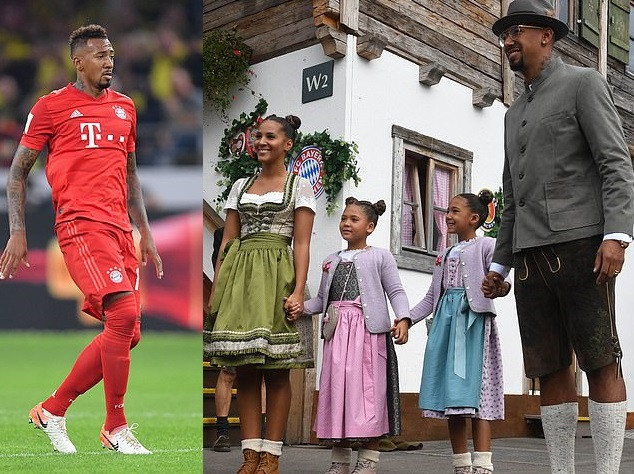 Bayern Munich star Jerome Boateng under investigation for aggravated assault against his former fianc?e Sherin Senler.