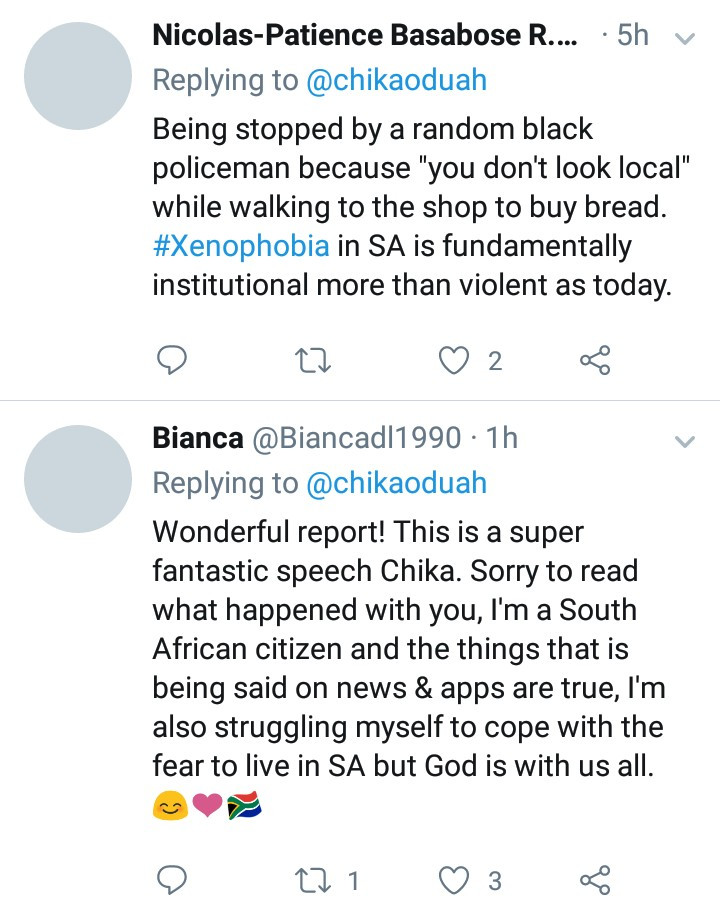 Nigerian journalist shares traumatic experiences she had with xenophobia when she visited SA for the CNN African Journalist Award