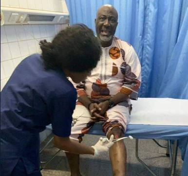 Dino Melaye weeps, sustain knee injury as he loses PDP primary in Kogi State (Photos)