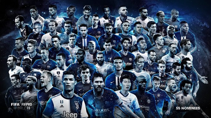 FIFPro World 11 shortlist revealed: Premier League players lead the way with 21 stars listed in the 55-man list.