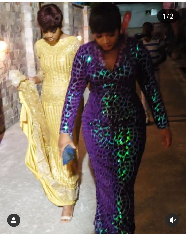 Omotola Jalade Ekeinde and daughter Princess majestically step into event in matching hairstyles and floor-length gowns (video)